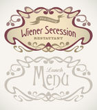 Secession styled labels Royalty Free Stock Image