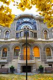 Secessionist building. Old eclectic secessionist building in Lodz, Poland in autumn Stock Photo