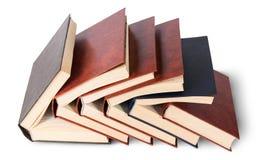 Sechs alte Bücher eingebettet in gegenseitig Draufsicht Stockbild