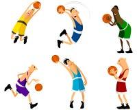 Sechs Basketball-Spieler Lizenzfreies Stockbild