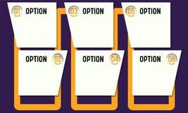 Sechs Bereiche für Fülle Ihr Text lizenzfreie abbildung