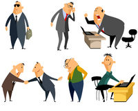 Sechs Berufleute Lizenzfreie Stockbilder