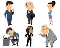 Sechs Berufleute Stockbild