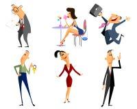Sechs Berufleute Stockfoto