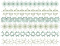 Sechs dekorative Zeilen, Vektor stock abbildung