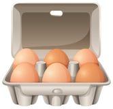 Sechs Eier lizenzfreie abbildung
