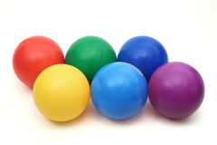 Sechs Farben Stockfotos