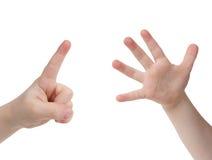 Sechs Finger Stockfotos