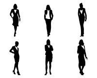 Sechs Geschäftsfrauen eingestellt stock abbildung