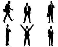 Sechs Geschäftsmannschattenbilder Lizenzfreies Stockfoto