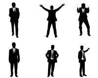 Sechs Geschäftsmannschattenbilder Lizenzfreie Stockbilder