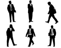 Sechs Geschäftsmannschattenbilder Stockbilder