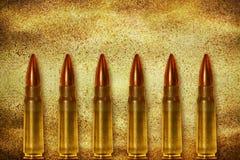 Sechs glänzende Kugeln Stockfotos