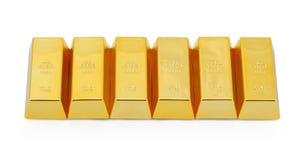 Sechs Goldbarren Lizenzfreie Stockfotos