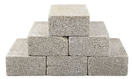 Bau blockiert Pyramide Stockbild
