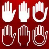 Sechs Hände Stockfoto