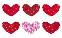 Sechs Herzen lizenzfreie abbildung