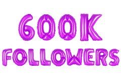 Sechs hundert tausend Nachfolger, purpurrote Farbe Lizenzfreie Stockfotos