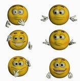 Sechs Lächeln II/III Lizenzfreies Stockbild