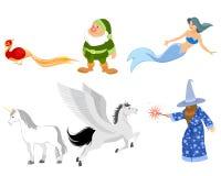 Sechs Märchencharaktere lizenzfreie abbildung