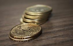 Sechs Münzen Lizenzfreies Stockbild