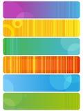 Sechs mehrfarbige Fahnen Lizenzfreies Stockbild