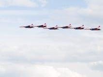 Sechs MiG-29 Swifts Stockfotografie