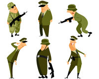 Sechs Militärsatz Stockfotos