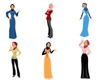 Sechs moderne Frauen Lizenzfreie Stockfotos