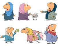 Sechs Moslemfrau Lizenzfreie Stockbilder