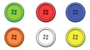 Sechs multi Farbentasten Lizenzfreies Stockfoto