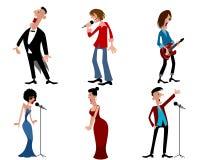 Sechs Person von Künstlern Stockfotos