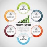 Sechs Prozesskreis-Klipp Infographic Stockbilder