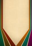 Sechs Retro- Zeilen in den verschiedenen Farben Lizenzfreie Stockbilder