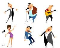 Sechs Sänger eingestellt Lizenzfreies Stockbild