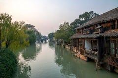 ----- Sechs südliche Stadt Wuzhen-Wasser-Dorf Stockfotografie
