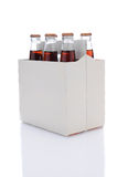 Sechs Satz Kolabaum-Soda-Flaschen Stockbilder