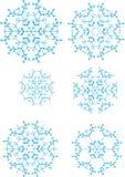 Sechs Schneeflocken Stockbild