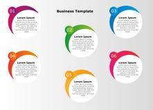 Sechs Schritte infographics Lizenzfreie Stockbilder