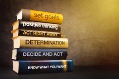 Sechs Schritte zur Geschäftserfolg-Literatur lizenzfreies stockfoto