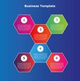 Sechs Schrittvektor-Illustration infographics Stockfotos