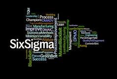 Sechs Sigma-Ausdrücke Stockfoto
