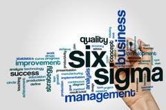 Sechs Sigmawortwolke Lizenzfreies Stockfoto