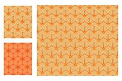 Sechs Sternstern symmtery orange nahtloses Muster Lizenzfreies Stockfoto