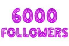 Sechs tausend Nachfolger, purpurrote Farbe Lizenzfreie Stockfotos