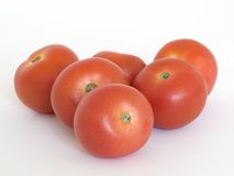 Sechs Tomaten Stockfotos