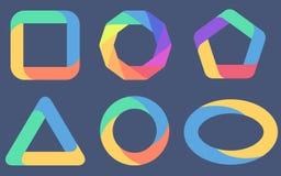 Sechs verschiedene Diagramme Stockbild