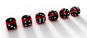 Sechs würfelt Lizenzfreie Stockfotografie