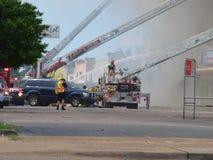 Sechs Warnungs-Feuer Lizenzfreie Stockfotografie