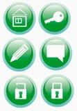 Sechs Web-Ikonen Lizenzfreie Stockbilder